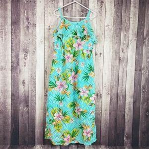 Xhilaration Hawaiian lace sleeveless maxi dress